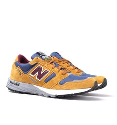 New Balance Trail 575 Suede Mustard & Blue Mesh Trainers