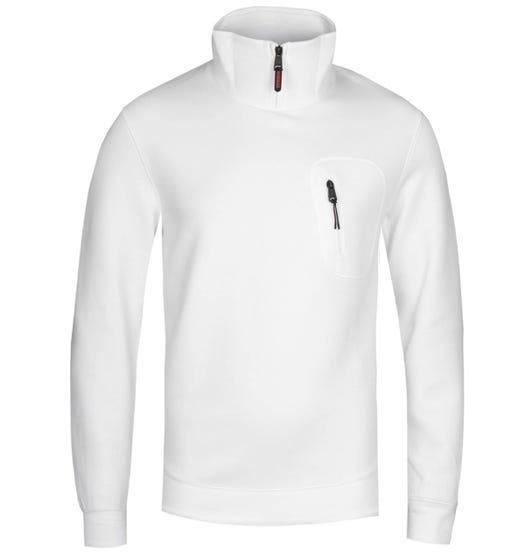 Napapijri Bible Bright White Funnel Neck Sweatshirt