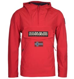Napapijri Rainforest S Pocket Bright Red Jacket