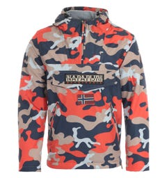 Napapijri Rainforest Pocket Print Jacket - Orange Camo