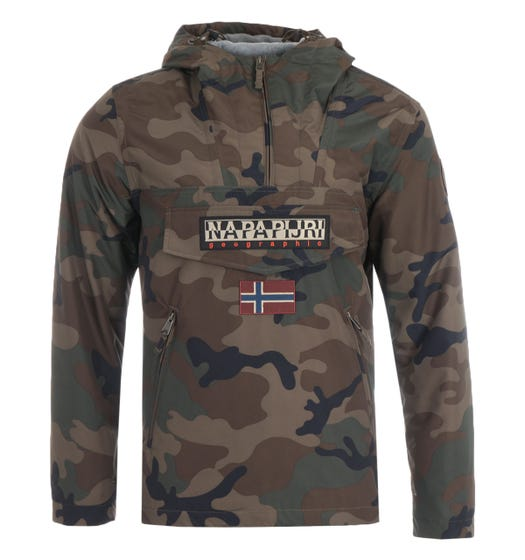 Napapijri Rainforest Pocket Print Jacket - Camo
