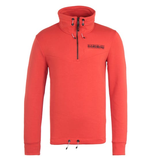 Napapijri Oodi Orange Zip Sweatshirt