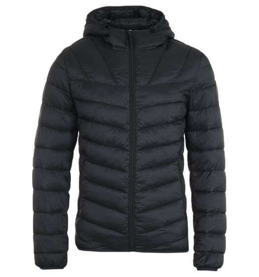 Napapijri Aerons Black Short Hooded Jacket
