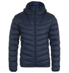 Napapijri Aerons Short Hooded Jacket - Marine Blue