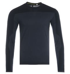 Napapijri Ze-K319 Long Sleeve T-Shirt - Marine Blue
