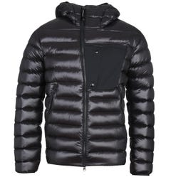 CP Company High-Shine Down Padded Black Goggle Jacket