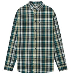 Penfield Barrhead Button-Down Blue Checked Shirt
