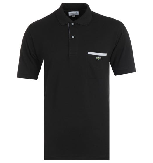 Lacoste Classic Fit Chest Pocket Black Polo Shirt