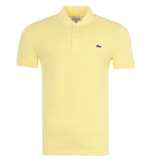 Lacoste Slim Fit Pique Polo Shirt - Yellow