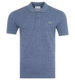 Lacoste Slim Fit Pique Polo Shirt - Marled Blue