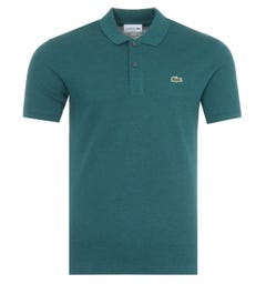 Lacoste Slim Fit Pique Polo Shirt - Teal Green