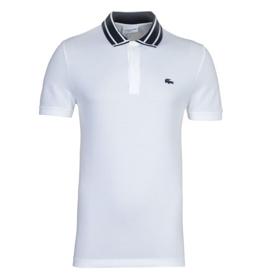 Lacoste MC Homme White Twin Tipped Polo Shirt