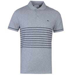 Lacoste Regular Fit Short Sleeve Grey Polo Shirt