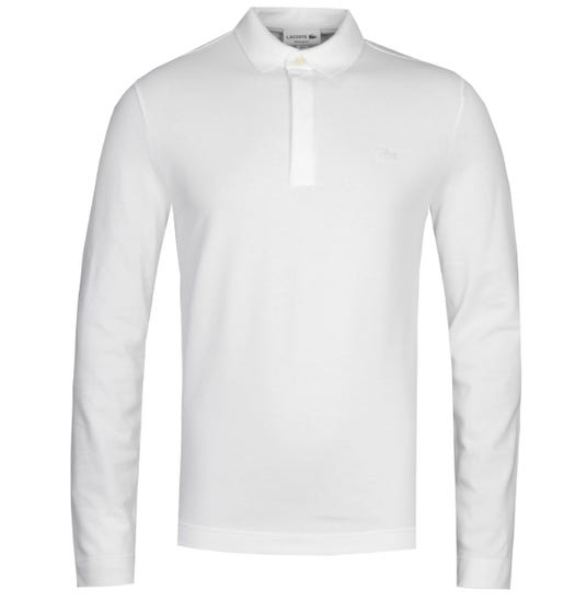 Lacoste ML Homme White Long Sleeve Polo Shirt