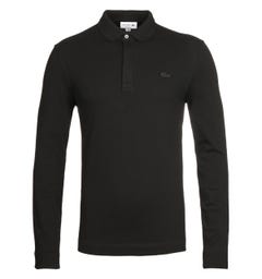 Lacoste ML Homme Black Long Sleeve Polo Shirt