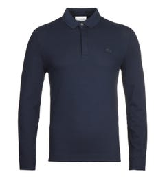 Lacoste ML Homme Navy Long Sleeve Polo Shirt