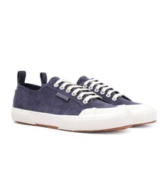 Superga 2372 Velvet Corduroy Deep Blue Trainers
