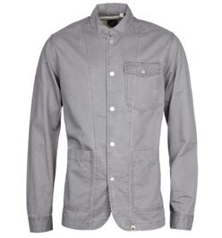 Pretty Green Collarless Grey Overshirt
