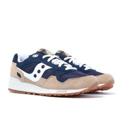 Saucony Shadow 5000 Navy & Sand Suede Trainers