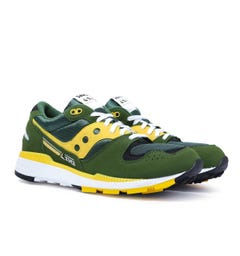 Saucony Azura Sage Green & Yellow Trainers