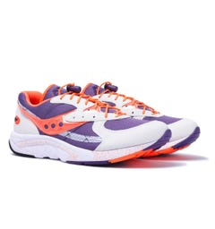 Saucony Aya Purple, White & Orange Trainers