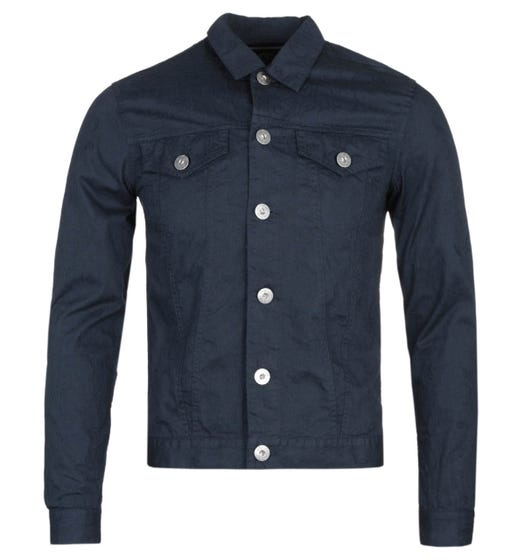 Pretty Green Slim Fit Beck Navy Denim Jacket
