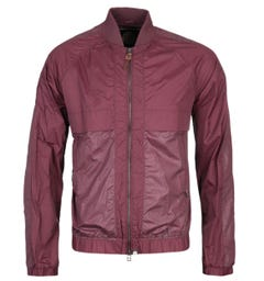 Pretty Green Burgundy Reflective Bomber Jacket