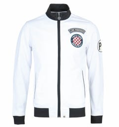 Pretty Green White Badge Racer Track Top