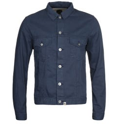 Pretty Green Button Up Navy Western Jacket