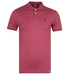 Pretty Green Slim Fit Red Jersey Polo Shirt