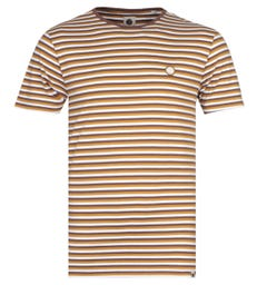 Pretty Green Brown Stripe Feeder T-Shirt
