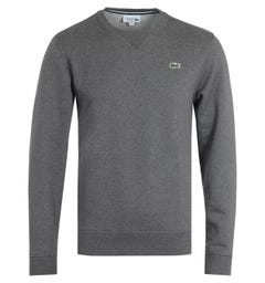 Lacoste Sport UV Protection Classic Crew Neck Grey Sweatshirt
