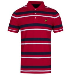 Lyle & Scott Regular Fit Red Stripe Polo Shirt