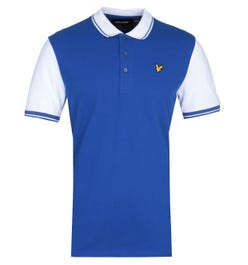 Lyle & Scott Tipped Duke Blue & White Polo Shirt