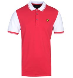 Lyle & Scott Tipped Red & White Polo Shirt