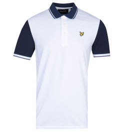 Lyle & Scott Tipped White & Navy Polo Shirt