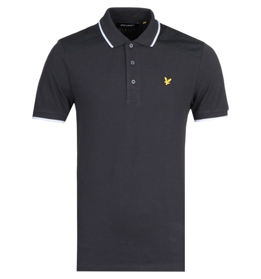 Lyle & Scott Nylon Panel Polo Shirt - Black