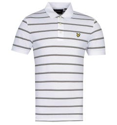 Lyle & Scott Block Stripe White Polo Shirt