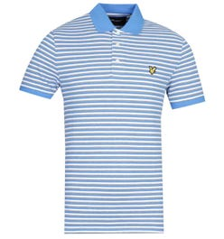 Lyle & Scott Contrast Stripe Short Sleeve Bright Royal Blue Polo Shirt