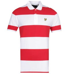 Lyle & Scott Wide Stripe Gala Red Polo Shirt