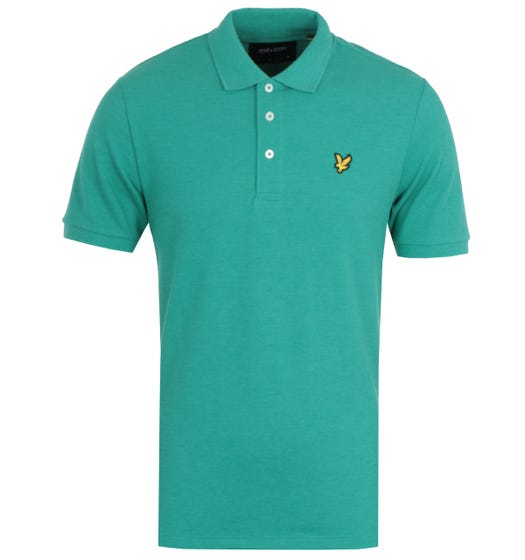 Lyle & Scott Aqua Salt Marl Polo Shirt