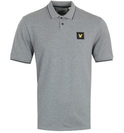 Lyle & Scott Mid Grey Marl Tipped Polo Shirt