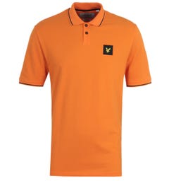 Lyle & Scott Risk Orange Tipped Polo Shirt
