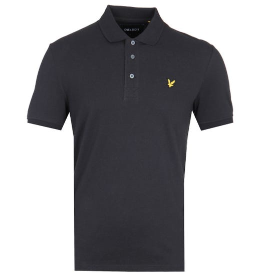 Lyle & Scott True Black Pique Polo Shirt