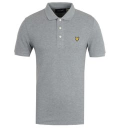 Lyle & Scott Mid Grey Marl Polo Shirt