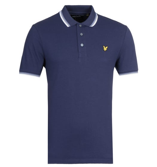 Lyle & Scott Tipped Navy Polo Shirt