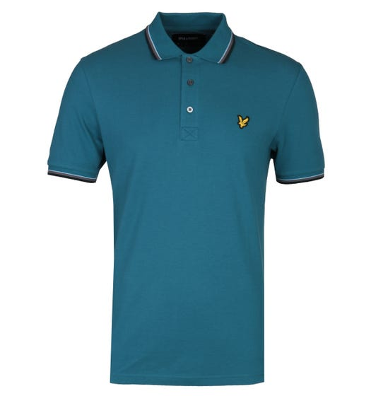 Lyle & Scott Tipped Petrol Teal Regular Fit Polo Shirt