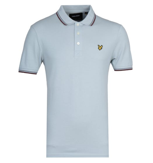 Lyle & Scott Tipped Light Silver Polo Shirt
