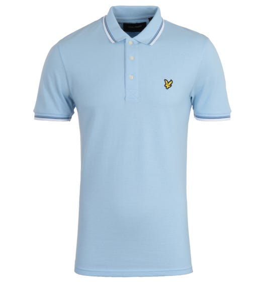 Lyle & Scott Tipped Pool Blue Regular Fit Polo Shirt