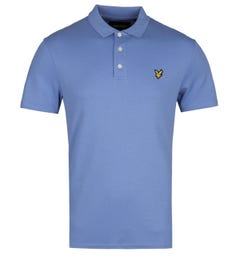 Lyle & Scott Sage Sky Blue Soft Touch Polo Shirt